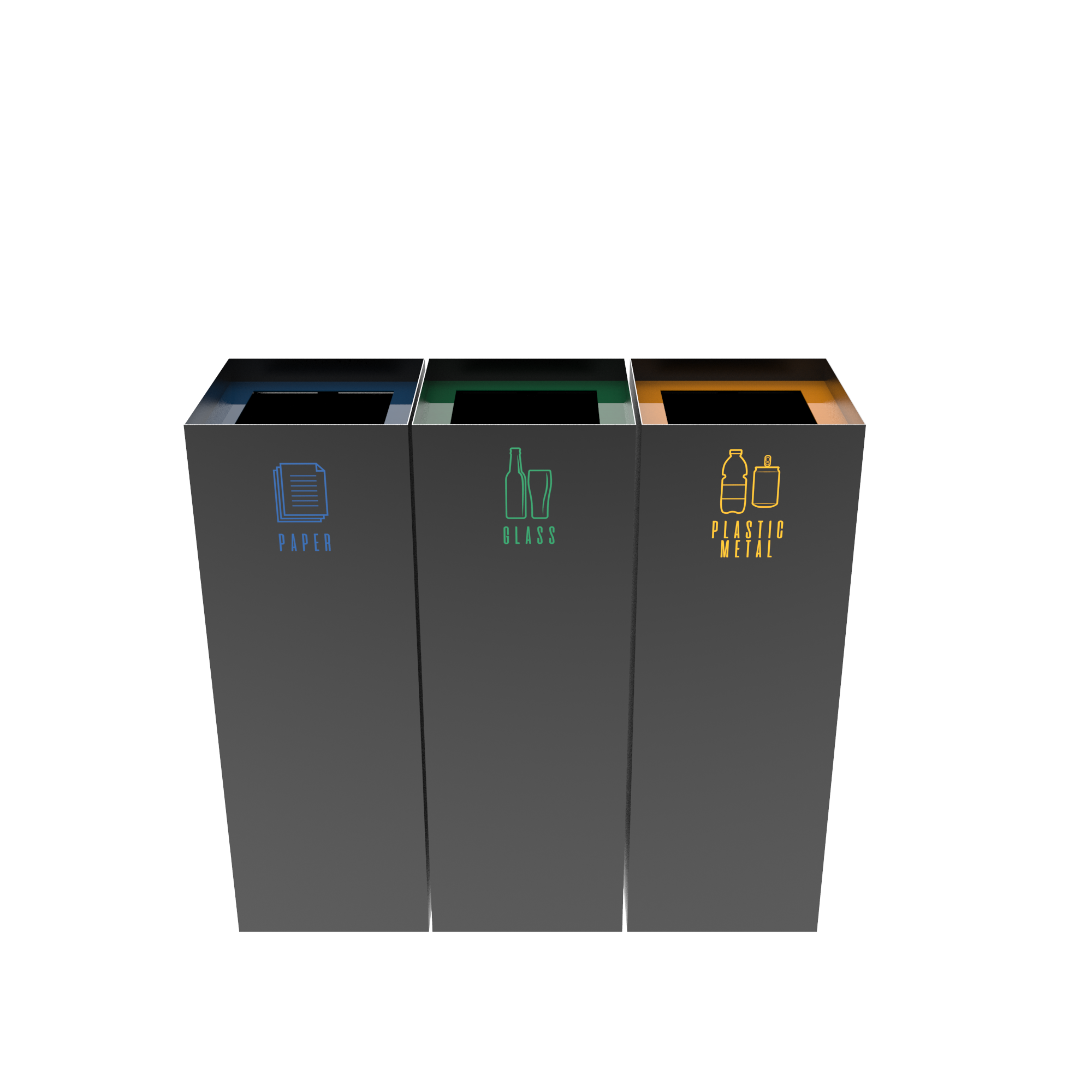 Medele Pc Modern Urban Recycle Bins In Sheet Metal Binsignia